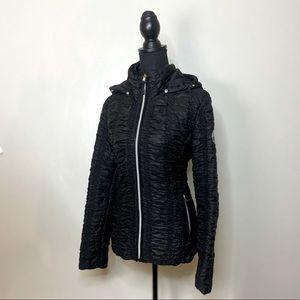 Black Ruffled Jacket Black Halifax Traders Large